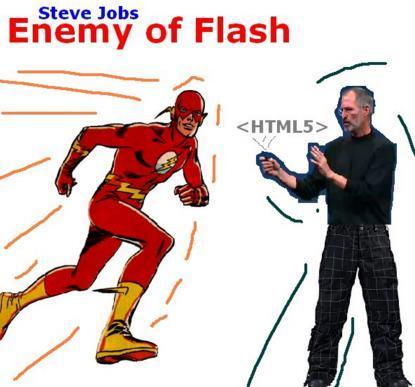 Steve Jobs är ansvarig för att alla casinon satsar mest på spel i mobilen idag (Källa:http://www.joydeepdeb.com/images/funny/flash-enemy.jpg)